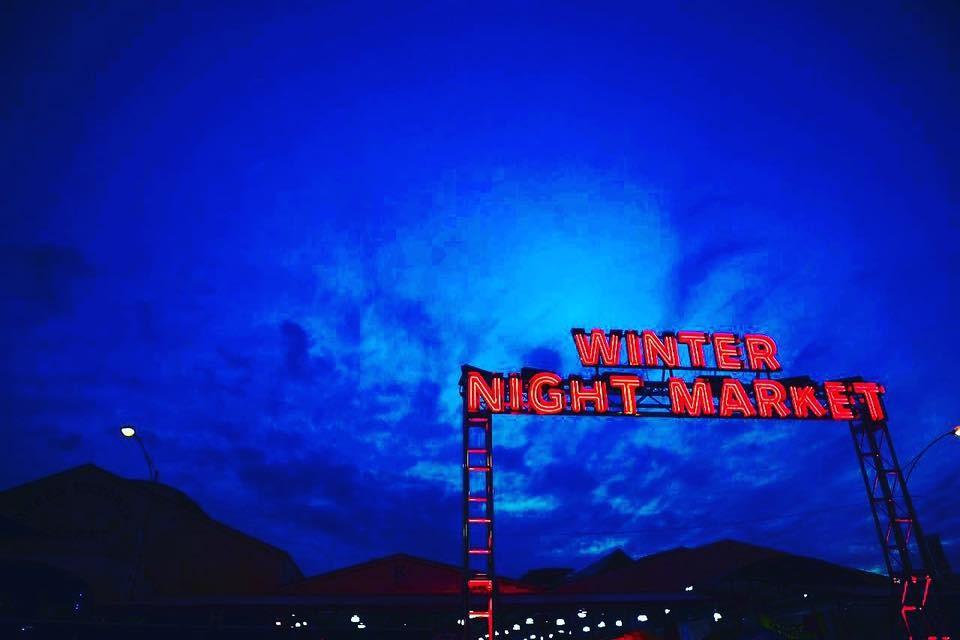 Winter Solstice Night Market at Magnuson Park Hangar 30 in Seattle