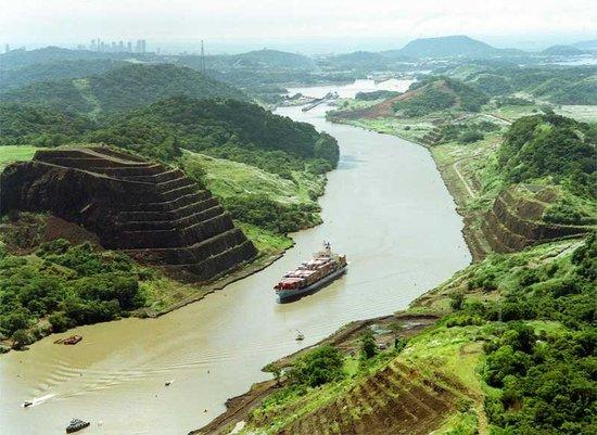 Panama canal and Panama cit