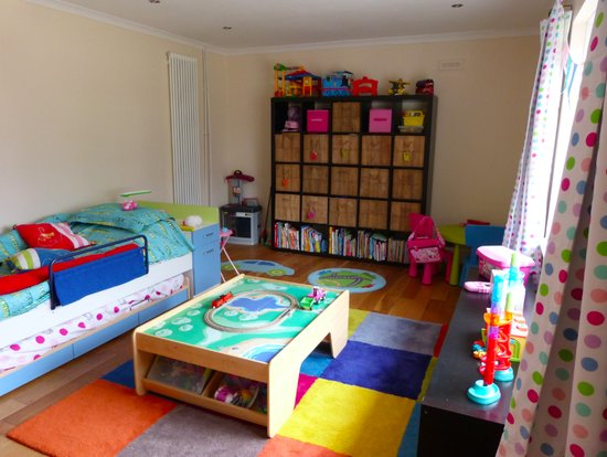 The twins room and play area
