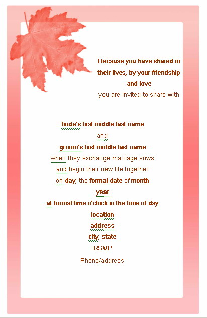 wedding note card template - zrom