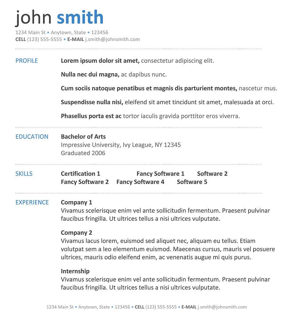 free resume templates australia download free - Free Resume Samples Australia