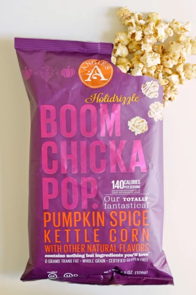 angie's holidrizzle boom chicka pop pumpkin spice kettle corn