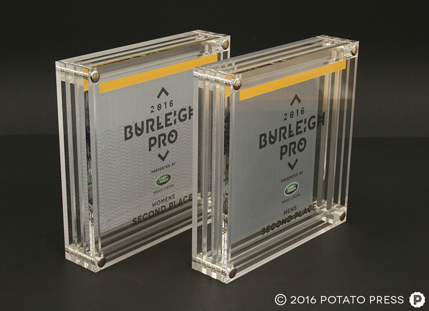 Surf Trophies For Burleigh Pro 2016 Potato Press