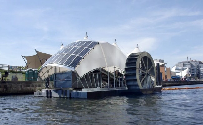 Solar Powered Water Wheel Is Cleaning Baltimore S Inner