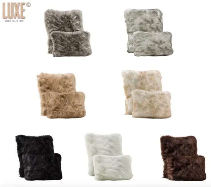 Luxe fur pillows seen on Today Show steals and deals