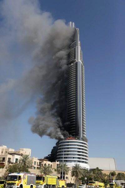 Dubai Investigates Luxury Hotel Skyscraper Fire Near Burj ...