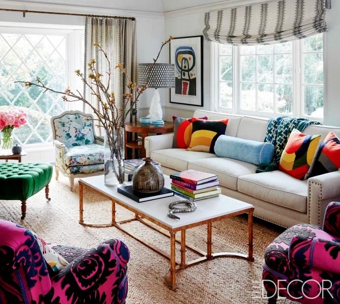 Minnie Driver Home Tour in Elle Decor April 2017 - TODAY - elle decor living rooms