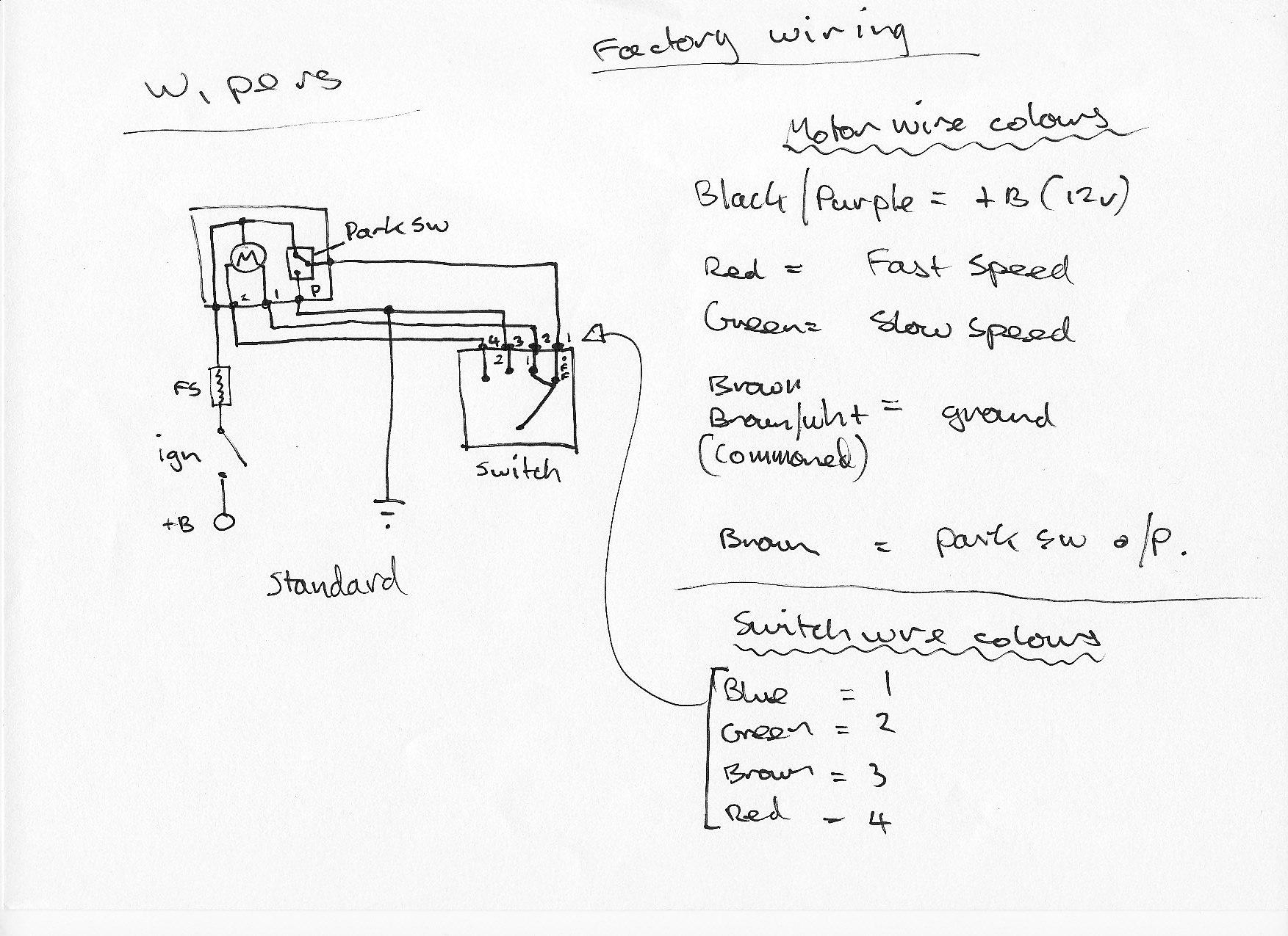 ford cortina wiper motor wiring diagram