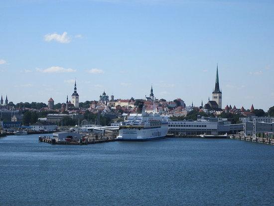 Arriving in Tallinn, Estonia