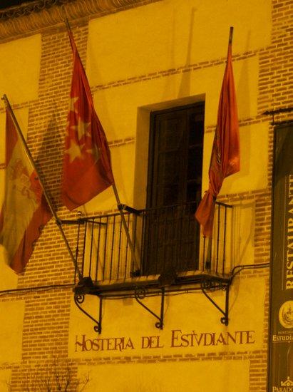 Historic Alcala de Henares by Madrid (Spain) at night
