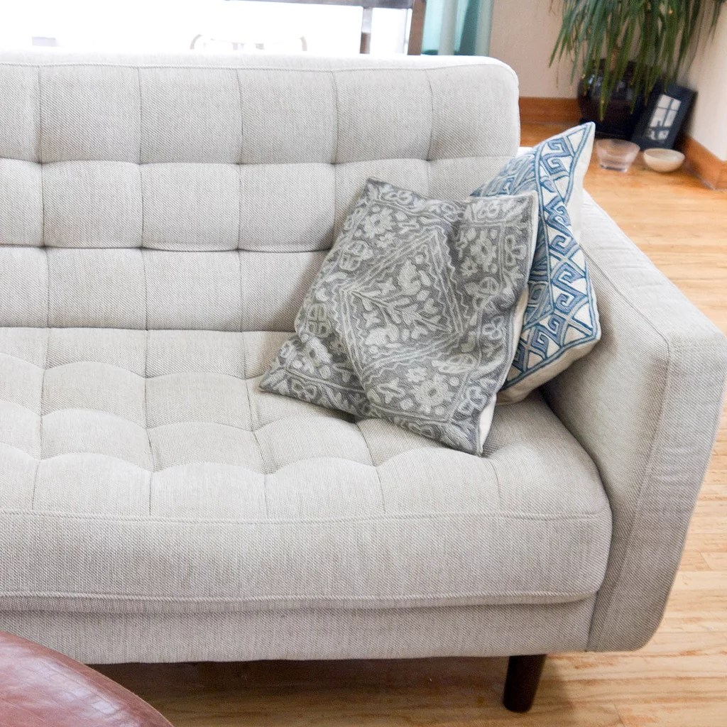 How To Clean Fabric Couch How To Clean A Natural Fabric Couch Popsugar Smart Living Uk