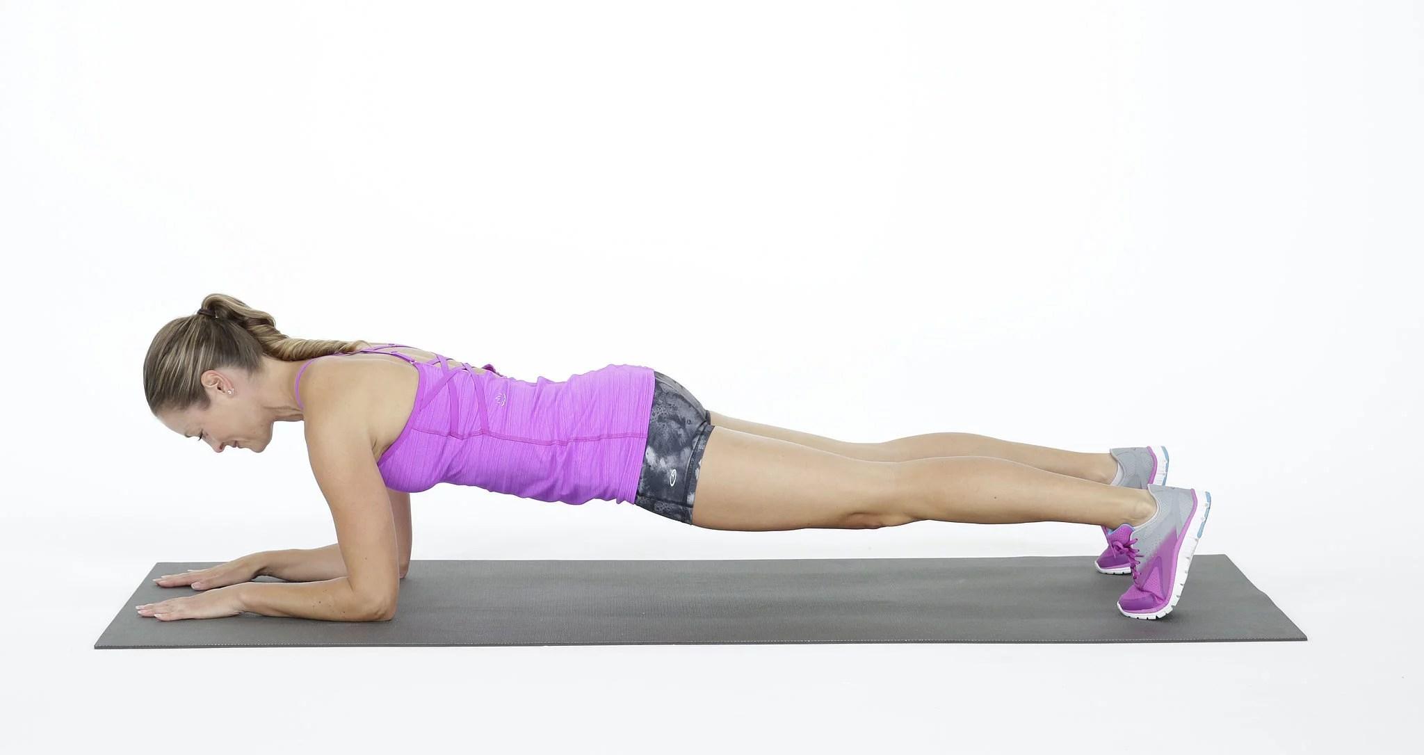 Plank On Elbows Popsugar Fitness