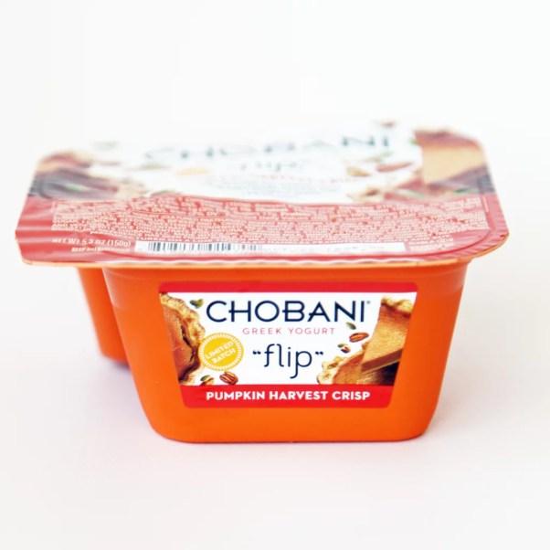 chobani flip pumpkin pie harvest crisp yogurt