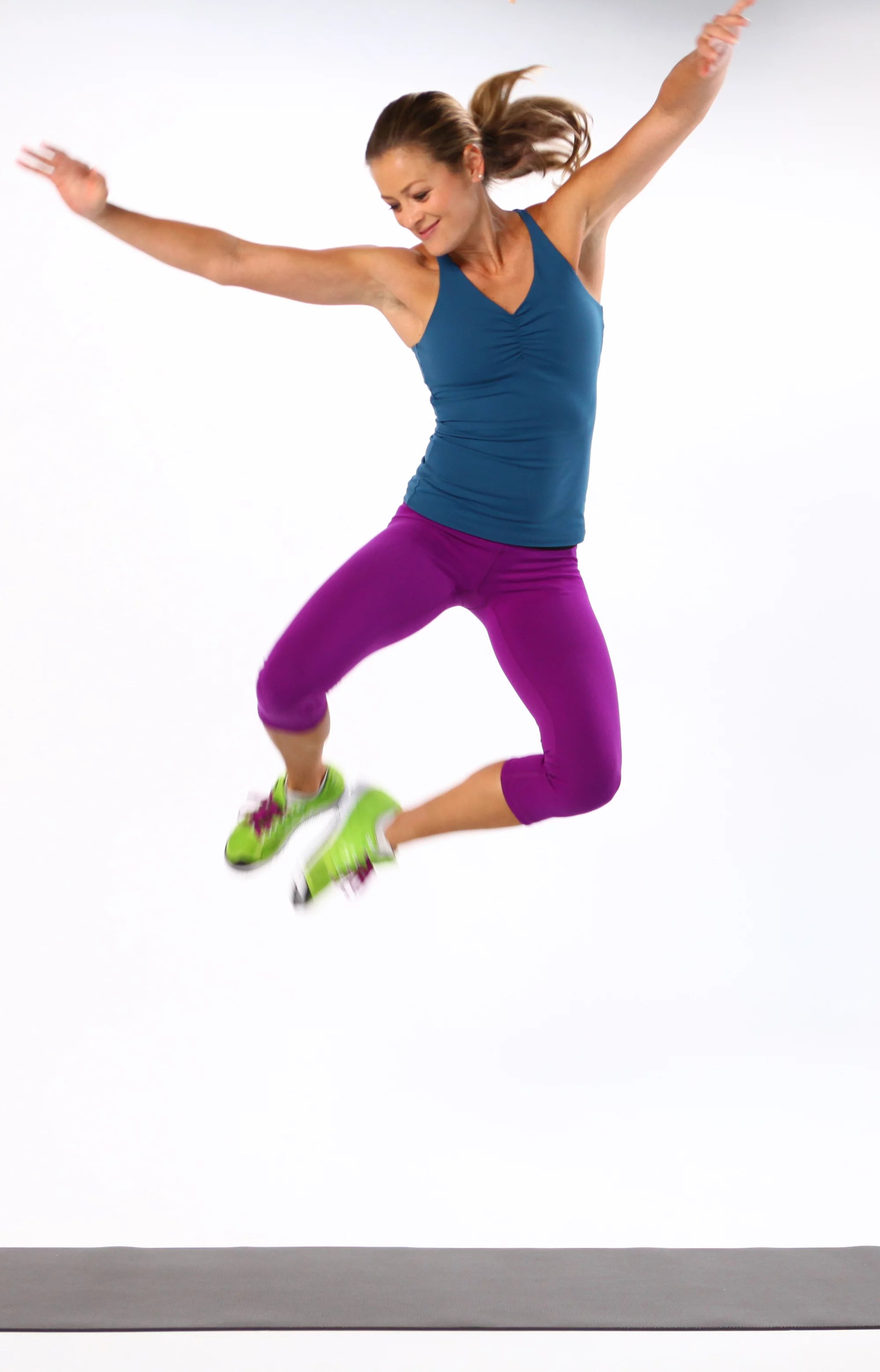 Jumping Fitness How To Do A Heel Click Jump Popsugar Fitness