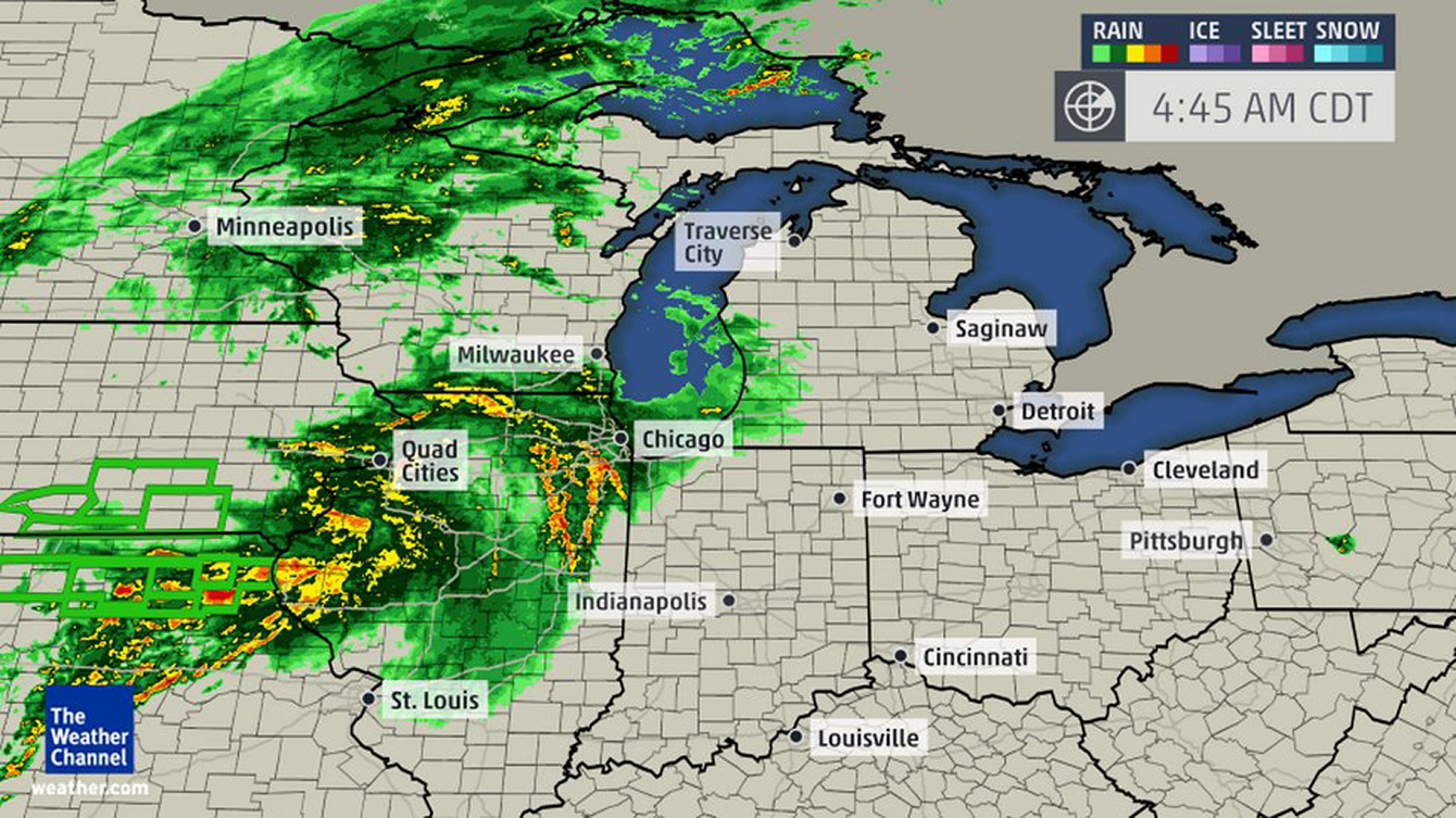 weather channel radar in motion michigan