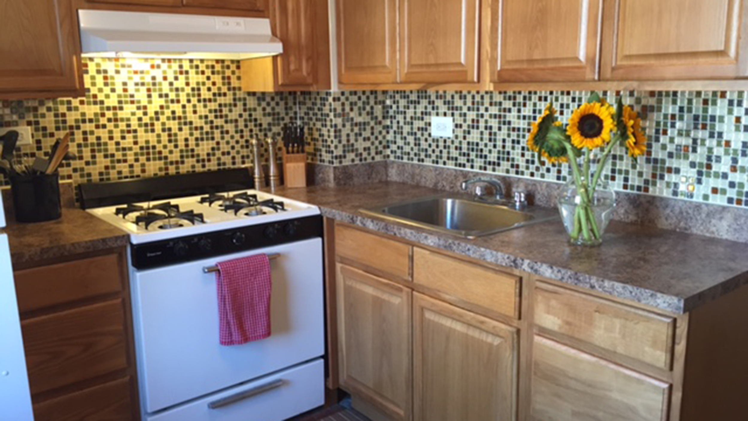 today tests peel stick backsplash tiles theyre everything we hoped t tile kitchen countertops