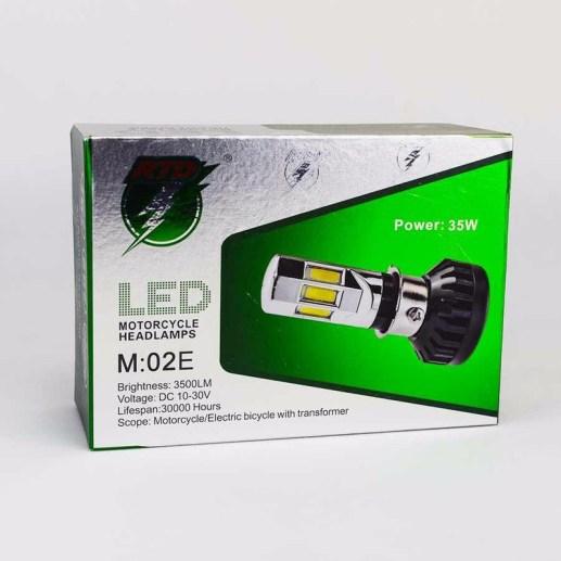 Bóng Đèn LED Xe Máy 6 Tim Siêu Sáng