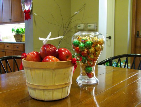 apples and chocs