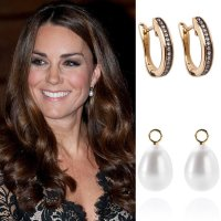 Get Kate Middleton's Classy Pearl and Diamond Earrings ...