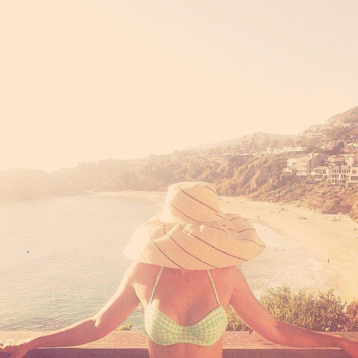 Lauren Conrad enjoyed the view. Source: Instagram user laurenconrad