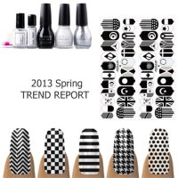 2013 Black and White Nail Trends | POPSUGAR Beauty UK