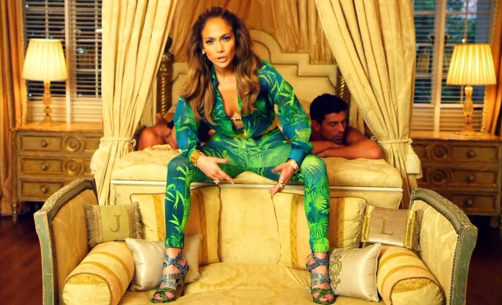 Jennifer Lopez Wearing Grammys Versace Dress In Music