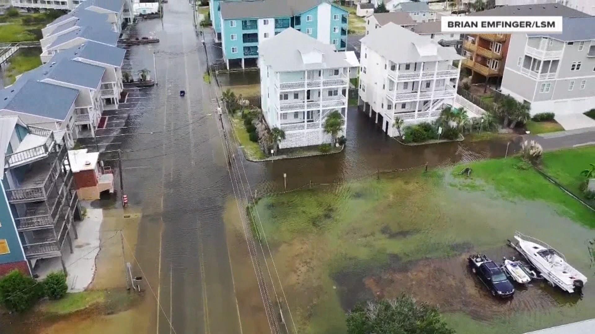 Florence Carolina Beach Authorities Monitoring Floods