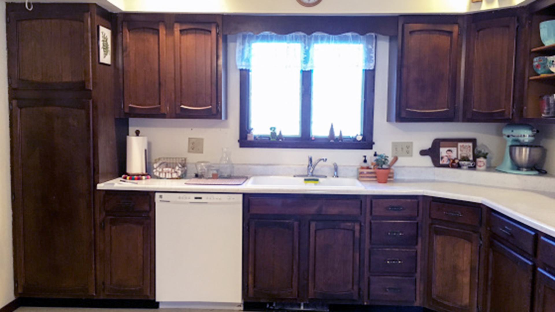 Can You Use Chalk Paint For Kitchen Cabinets Kitchen Makeover For Less Than $250 - Today.com