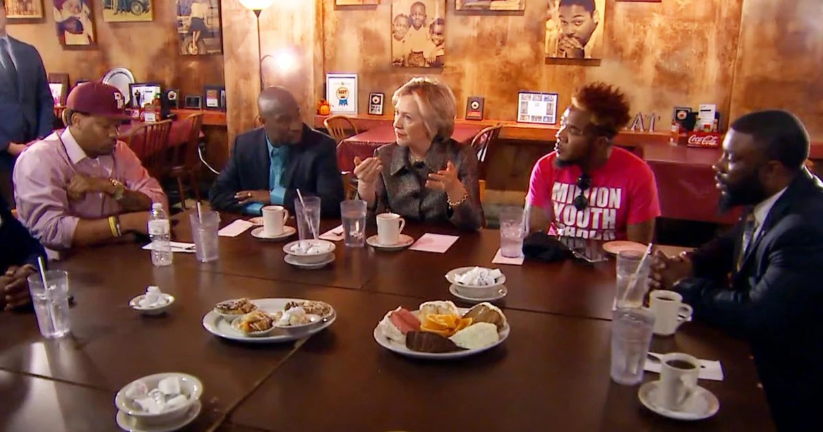 In Wake Of Charlotte Shooting Clinton Meets With Black Men