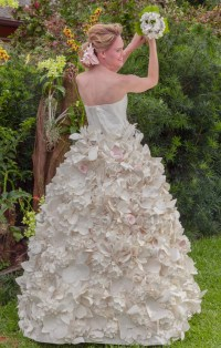 These gorgeous wedding dresses are made from toilet paper