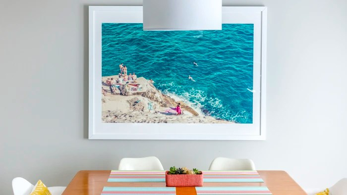 "Minted Art pictured: ""Seaside"" by Alexandra Nazari"