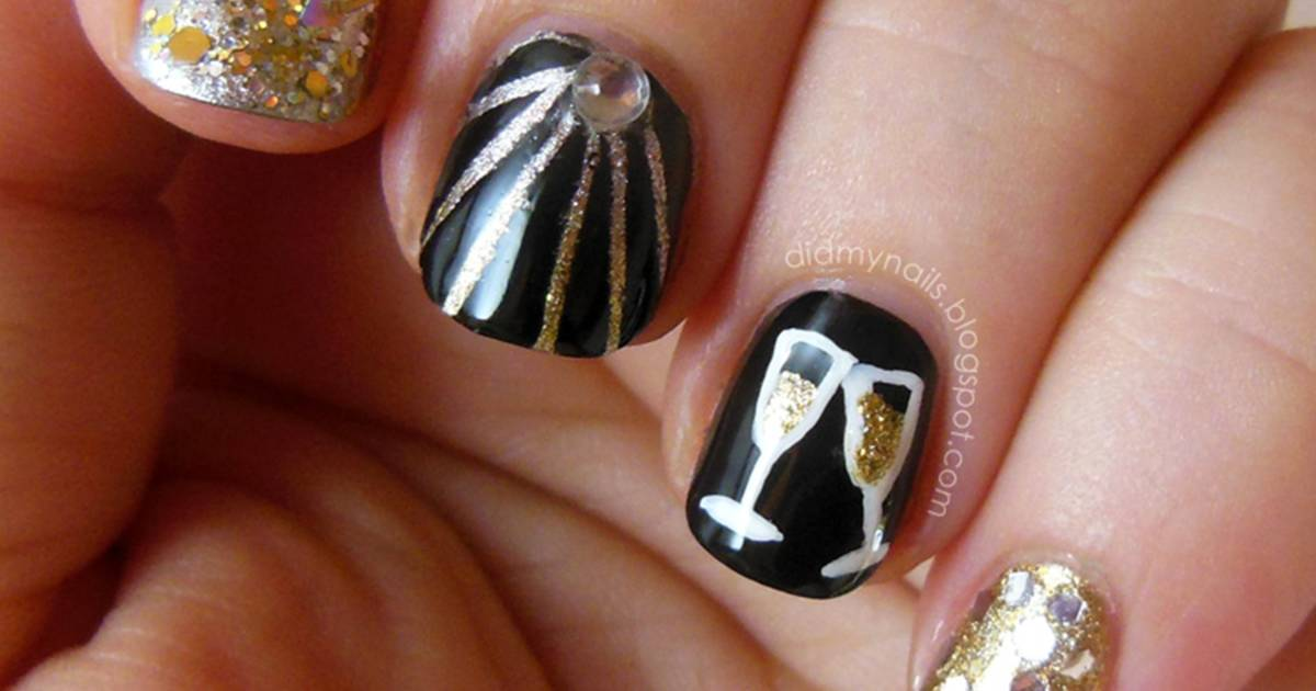 New Year39s Eve Nail Art Ideas As Pretty As Your Party Dress