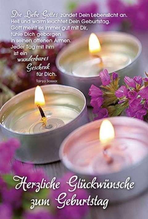 Faltkarte Herzliche Glückwünsche zum Geburtstag - Tanja Sassor