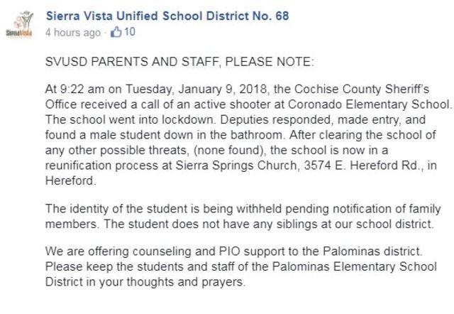 sierra vista incident report