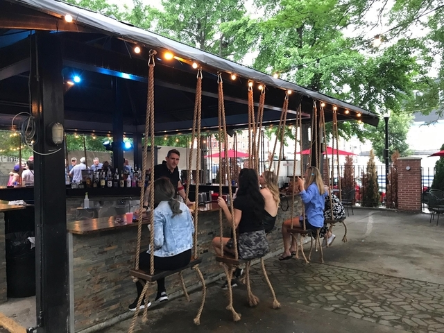 No Secret Knock Required Treehouse Patio Bar Offers Swing