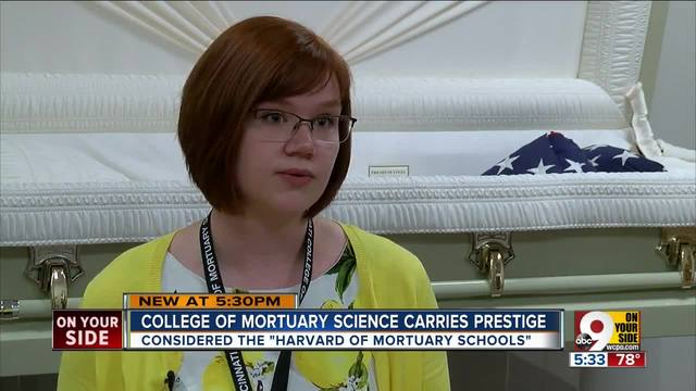Cincinnati College of Mortuary Science students are used to