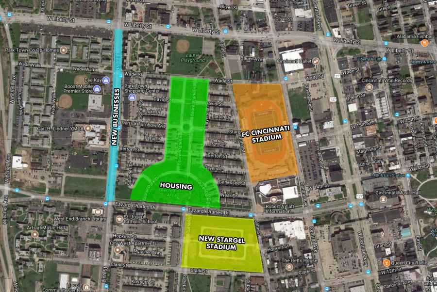 MAP Here\u0027s how FC Cincinnati stadium might fit into the West End