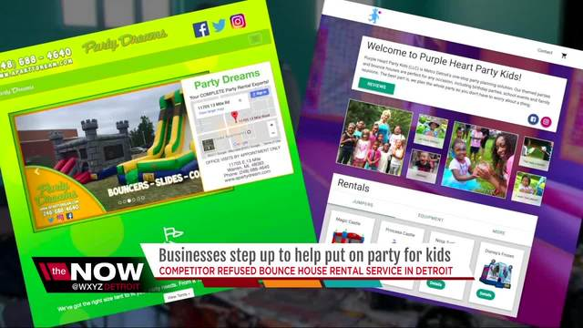Businesses help Detroit nonprofit after it was refused service - party rental flyer