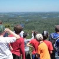 Pais e filhos na escalada