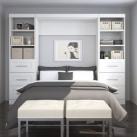 """Bestar Pur 109"""" Full Wall Bed with 2 Piece 6-Drawer ..."""