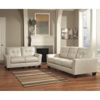 Ashley Paulie 2 Piece Leather Sofa Set in Taupe - 27000-38 ...
