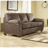 Ashley Amazon Microfiber Sofa in Walnut - 6750538