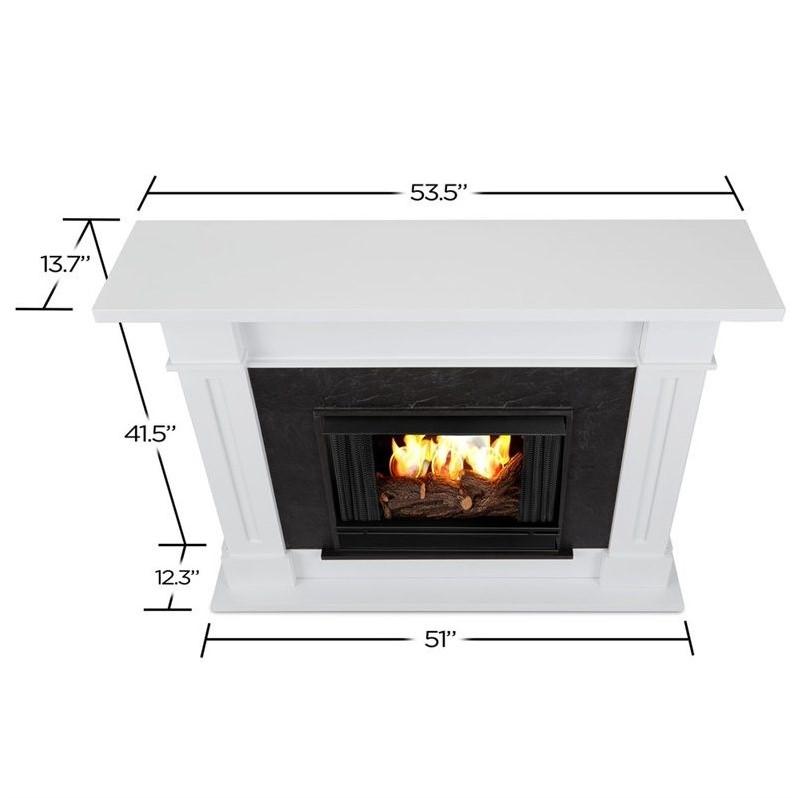 Real Flame Kipling Gel Fireplace White 6030 W