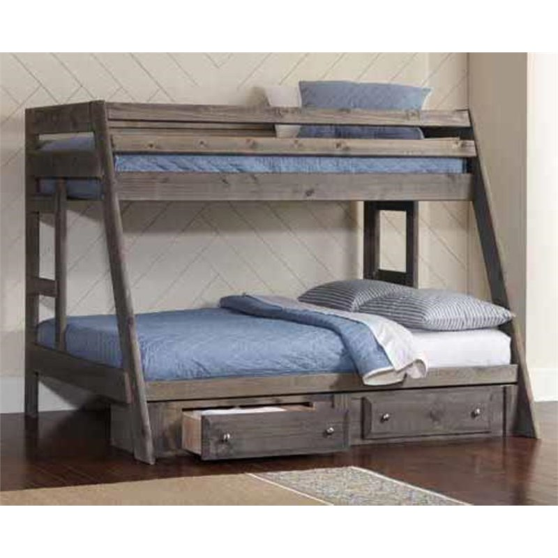 Coaster Wrangle Hill Youth Twin Over Full Bunk Bed In Gun