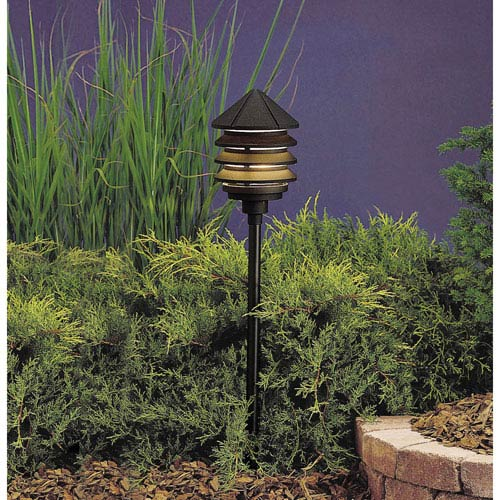 Kichler Textured Black Line Voltage One Light Landscape Path Light