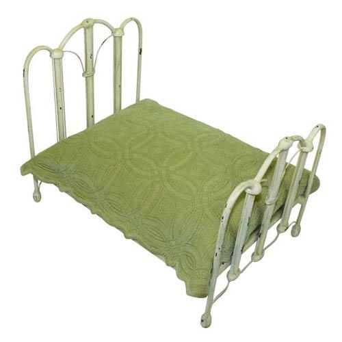 Dr Livingstone I Presume Antique Parchment Iron Arched Top Pet Bed