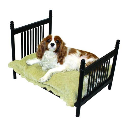 Dr Livingstone I Presume Textured Black Iron Slat Designed Pet Bed
