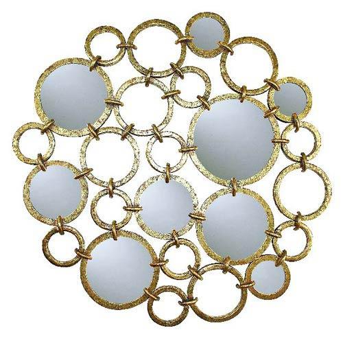 Dr Livingstone I Presume Italian Gold Iron Circle Mirror