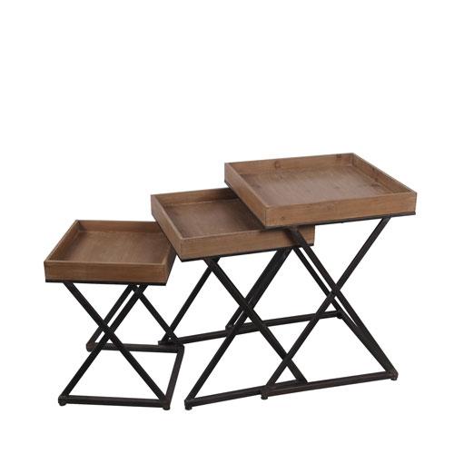 Privilege X Design Nesting Tables, Set Of Three 89014 Bellacor
