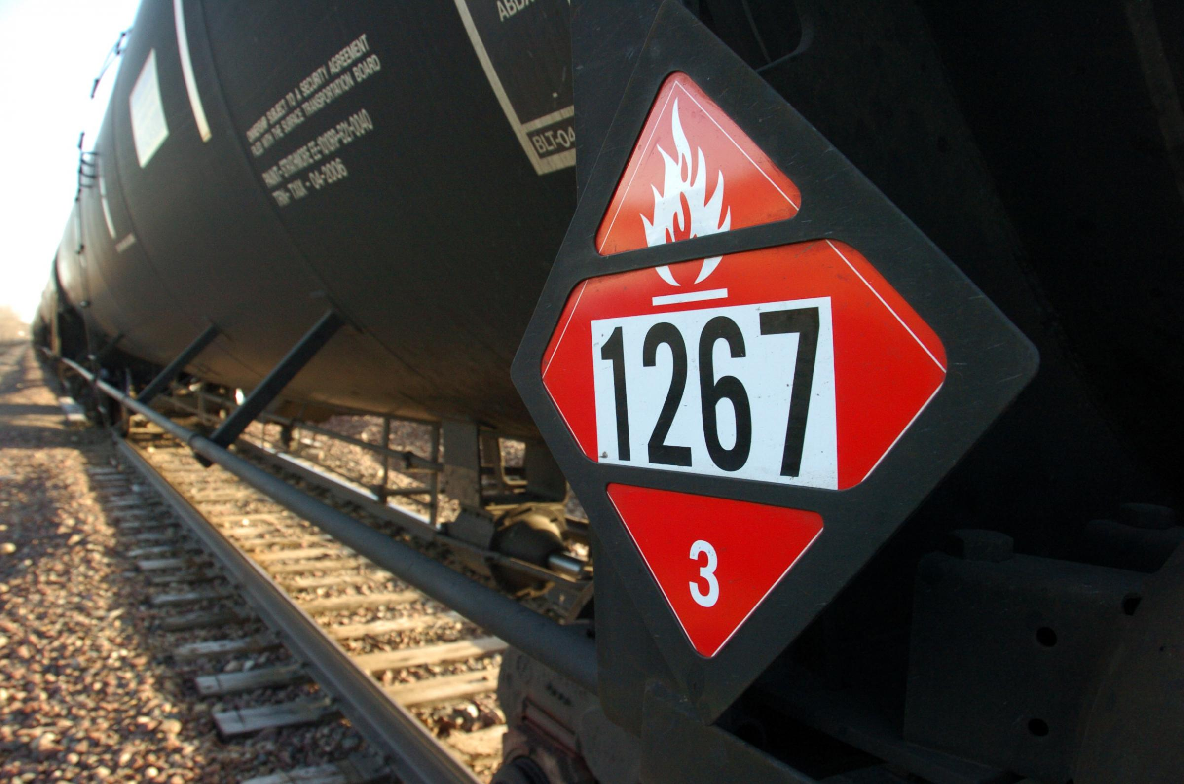 Placard But Crude Oil Train Oversight Divides Lawmakers Knkx